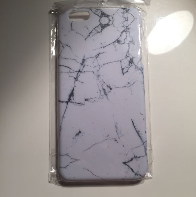 Hard Impact White Marble Case For iPhone 6/6s Plus