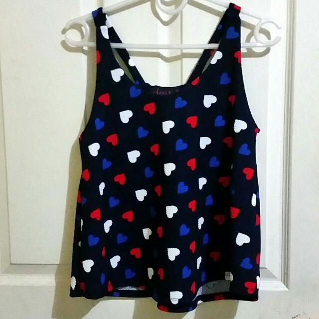 Heart Top With Bow