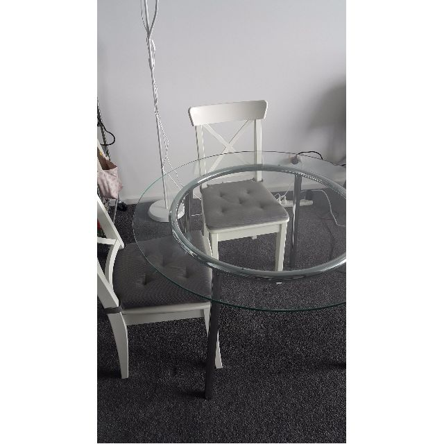 IKEA Salmi dining table + dining chairs (4 months old)