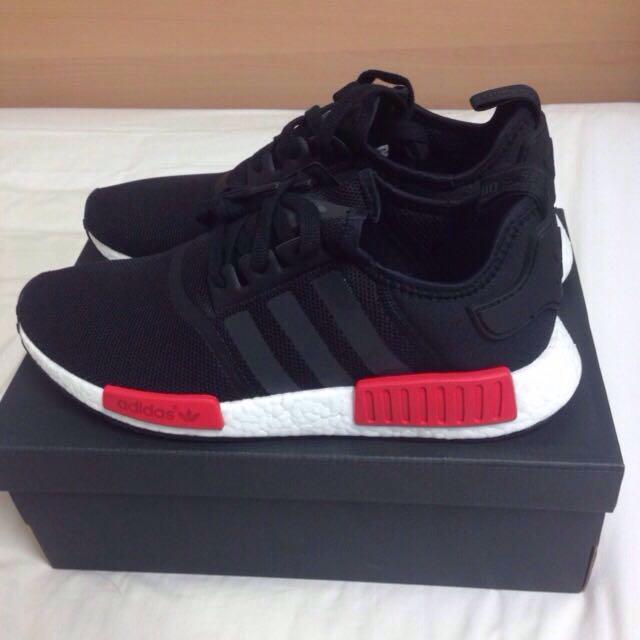 NMD BLACK RED SIZE 11