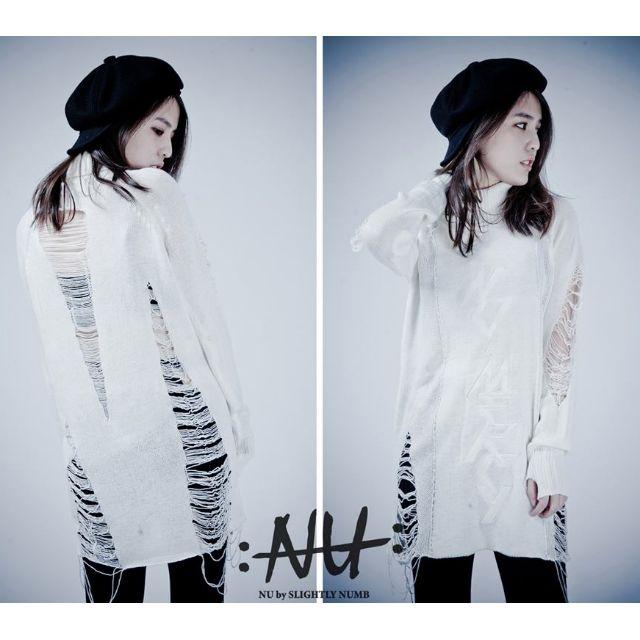 <全新>NU by Slightly Numb 2014-15aw ASHES KNIT DRESS 原價$2280