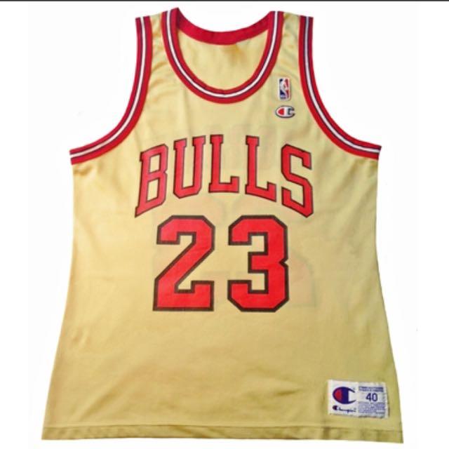 official photos 78d76 e5e92 OG Champion Gold Michael Jordan Jersey