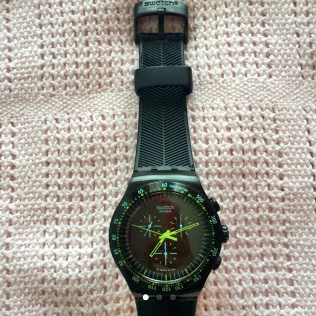 original SWATCH irony rubber black
