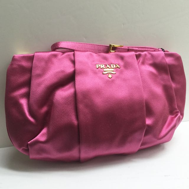 6421b3f637f498 where to buy prada satin wristlet clutch bag 100 authenticbrand new 1n1503  929b8 4db6c