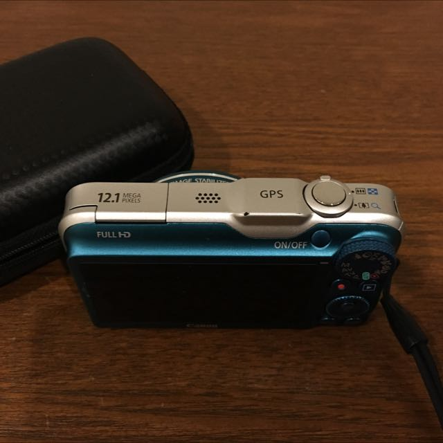 Preowned Canon (Power Shot 230HS) Camera In Teal Blue