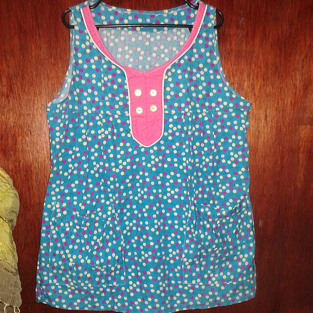 Sleeveless Polka Dots