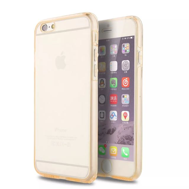 Soft Silicone Clear Gold iPhone 6/6s/7 Case