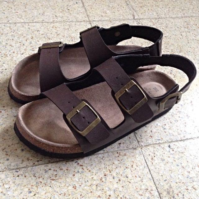 SPAO 咖啡色涼鞋