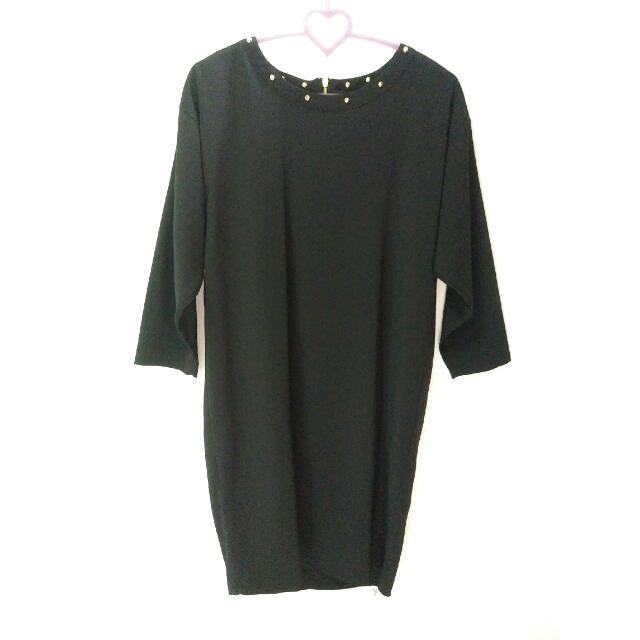 Studded Black Dress H&M