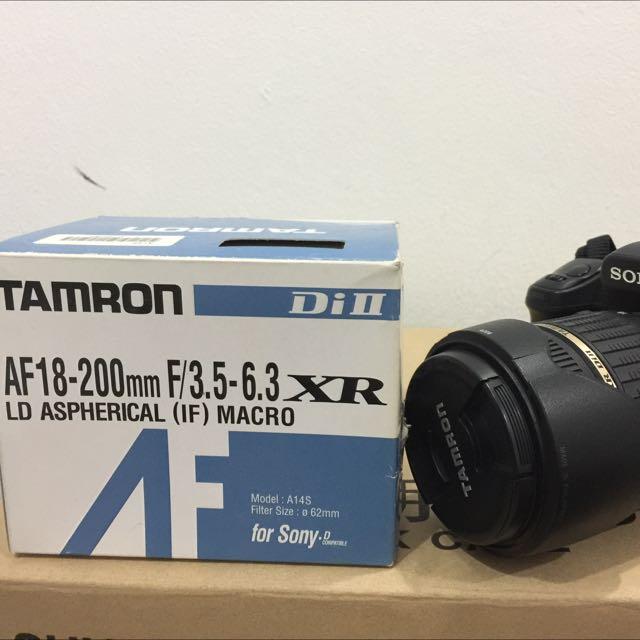 Tamron Zoom Super Wide Angle 18-200mm f/3.5-6.3 XR Di-II LD Aspherical (IF) Macro Lens for Sony Alpha & Minolta Digital SLR
