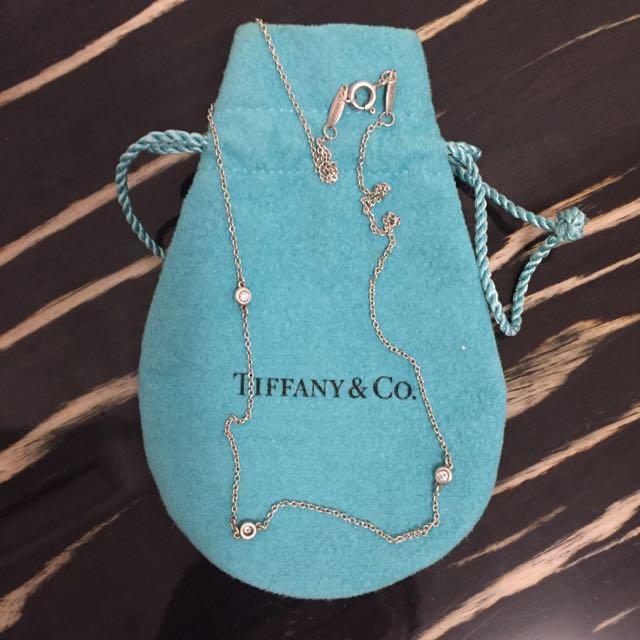 Tiffany&Co三真鑽項鍊