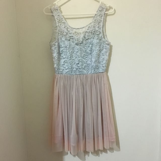 White and Pink Lace dress