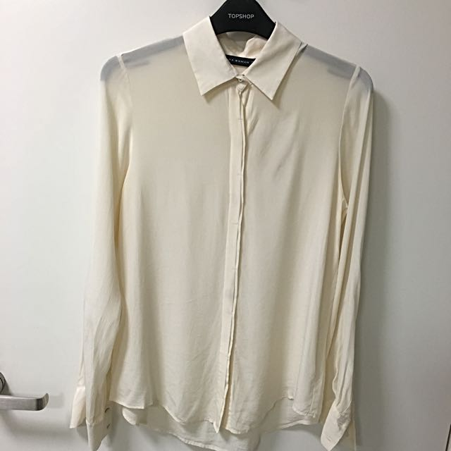 Zara Silk Blouse Top