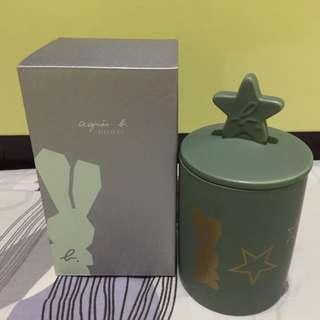 絕版全新正版Aguis b 兔仔圖案陶瓷罐