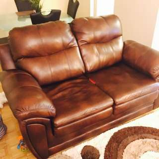 Leather Sofa Set 5 Seaters .. Just Like New Bought Few Months Ago