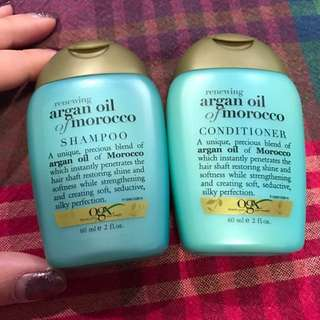New Ogx Argan Oil Of Morocco Shampoo&conditioner Travel Set