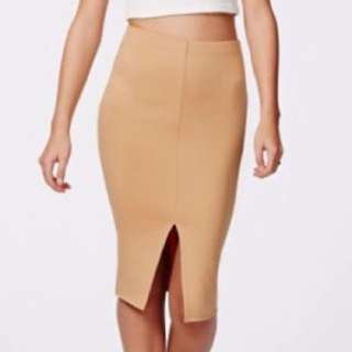 Missguided Split Midi Skirt