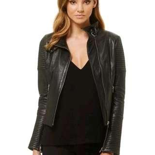 Kookai Monaco Leather Jacket Size: 40