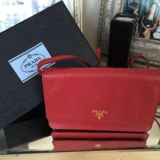 Prada Saffiano Lux Small Crossbody Bag