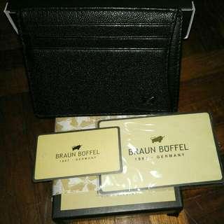 Braun Buffel Slim Wallet/Card Holdet
