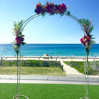 Wedding Ceremony Arch & Walkway Deco