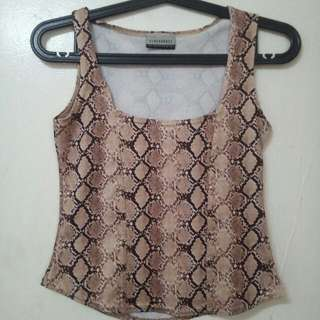 Imported Sexy Snake Skin Print Crop Top