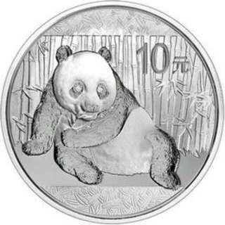 2015中國熊貓銀幣
