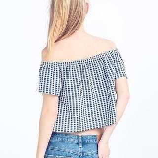 Checkered off shoulder (Vol1)