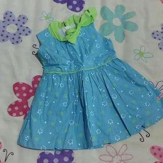 Robbie Rabbit Blue & Green Dress with