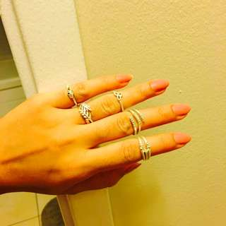 Antique Mid Rings ..silver Nd Golden Brand New