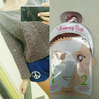 Knitted Crop Top With Free Face Mask