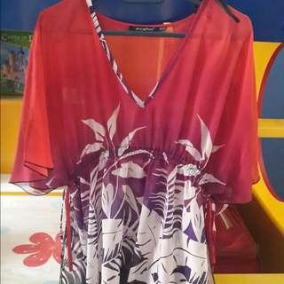 Batik Printing Chiffon Blouse