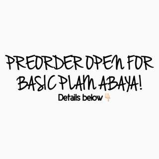 Basic Plain Abaya