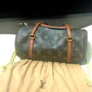 🈹*再減 $ DOWN* 100%auth. LV Papillon 26 monograms handbag  經典LV花紋圓筒形手袋