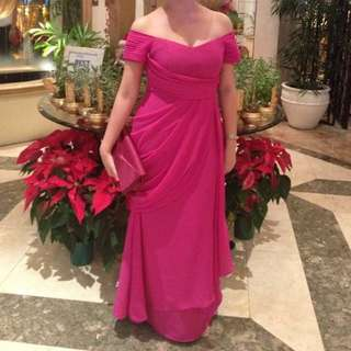 Fucshia Gown, fits Medium Size