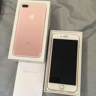 New iPhone 7 Plus 128GB Rose Gold