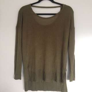 Longsleeve Green loose Fitted Sweater
