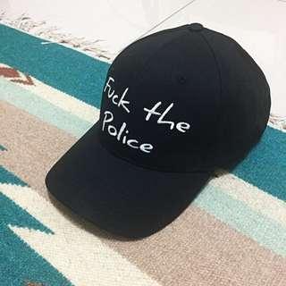 Fuck The Police 黑色老帽 只有一頂 可調大小