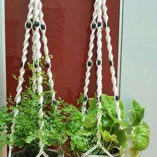 🌷🌷Handmade Macrame Pot Hanger -Twister