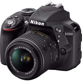 New Nikon D3300 with 18-55mm VR II Lens Kit