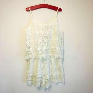 【🆕全新+📮包郵】Forever21 通花Lace吊帶裙褲