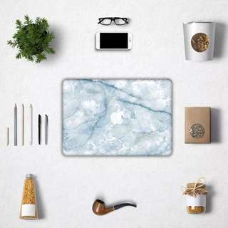 Icy Blue Faux Marble Macbook Decal / Sticker / Skin