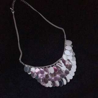 Silver Layered Collar Necklace