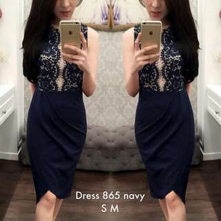 Navy Dress Size M