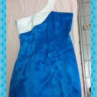 Dress Pendek Biru