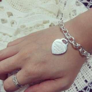 Tiffany愛心牌手鍊1:1,625銀