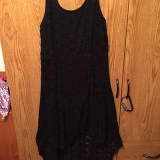 Black Lace Mid length Dress