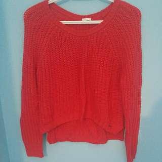 Garage Fushia Crop Style Sweater