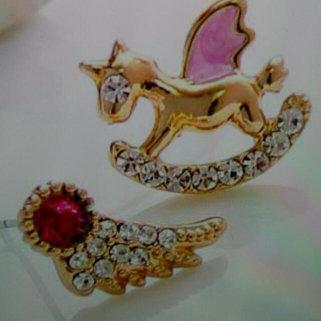 韓版精品童趣耳環(飾品出清滿300免運費)