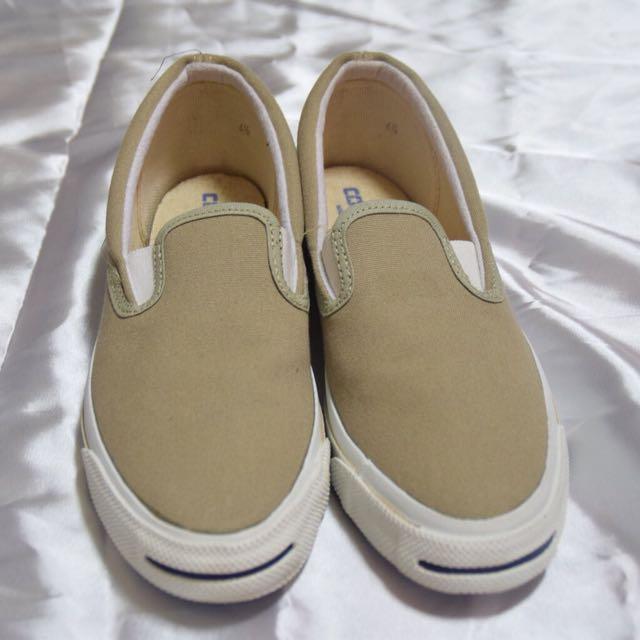 美國製 1970 Converse 卡其色開口笑懶人鞋